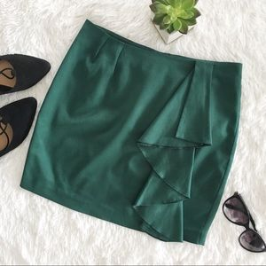 H&M emerald green mini skirt